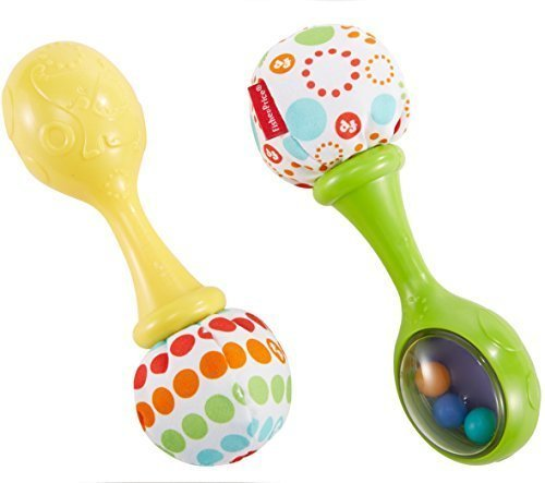 Fisher-Price Rattle N Rock Maracas, Green/Yellow