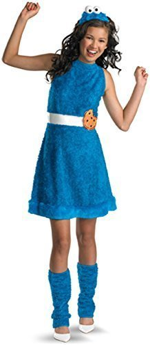 Sesame Street Cookie Monster Teen Girls Costume, X-Large/14-16