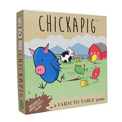 Chickapig Board Game – A Strategic Board Game Where Chicken-Pig Hybrids Attempt to Reach Their Goal While Dodging Opponents, Hay Bales, and an Ever-Menacing Pooping Cow.