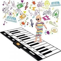 Keyboard Playmat 71″ – 24 Keys Piano Play Mat – Piano Mat has Record, Playback, Demo, Play, Adjustable Vol. – Original – by Play22