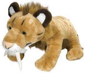 Wild Republic Jumbo Smilodon Plush, Giant Stuffed Animal, Plush Toy, Gifts for Kids, 30″