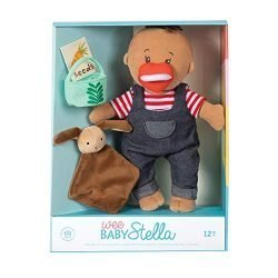 Manhattan Toy Wee Baby Stella Tiny Farmer 12″ Soft Baby Doll Set