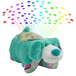 Pillow Pets Sleeptime Lites Colorful Teal Puppy Stuffed Animal Plush Night Light