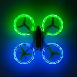 Mini Drones for Kids and Beginners – UFO 3000 LED RC Kid Drone, Remote Control Quadcopter Flying Toys for Boys or Girls w/Extra Stunt Drone Battery