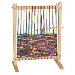 Melissa & Doug Wooden Multi-Craft Weaving Loom, Arts & Crafts, Extra-Large Frame, Develops Creativity and Motor Skills, 16.5″ H x 22.75″ W x 9.5″ L