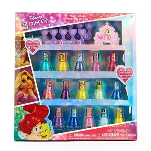Townley Girl Disney Princess Non-Toxic Peel-Off Nail Polish Set for Kids (15)