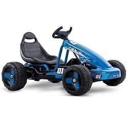 Huffy 17197P 6V 2 in 1 Ride On Car for Kids, Flat Kart Toy, Blue