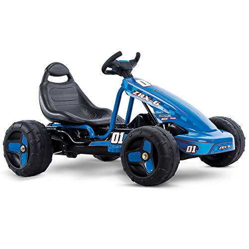 Huffy 17197P 6V 2 in 1 Ride On Car for Kids, Flat Kart Toy, Blue