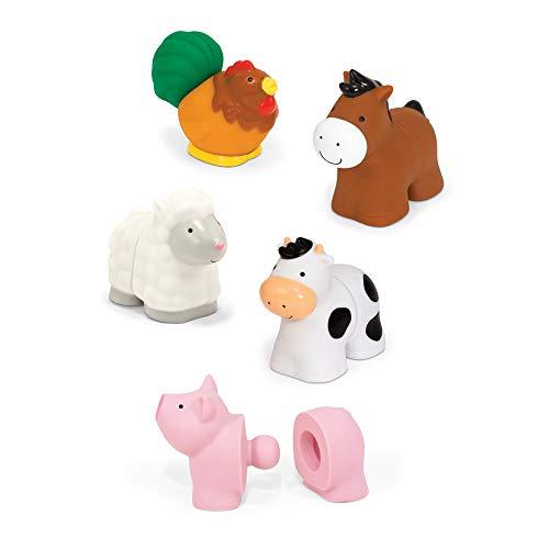 Melissa & Doug Pop Blocs Farm Animals Educational Baby Toy – 10 Linkable Pieces