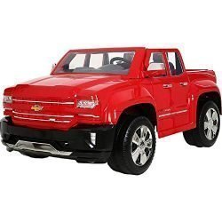 Rollplay 12 Volt Chevy Silverado Truck Ride On Toy, Battery-Powered Kid's Ride On Car – Red