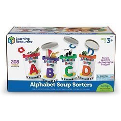 Learning Resources LER6801 Alphabet Soup Sorters, 208 Pieces