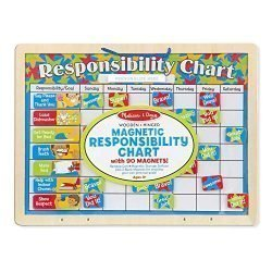 "Melissa & Doug Magnetic Responsibility Chart, Developmental Toy, Encourages Good Behavior, 90 Magnets, 15.6"" H x 11.7"" W x 1.2"" L"