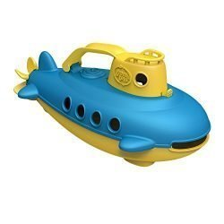 Green Toys Submarine in Yellow & blue – BPA Free, Phthalate Free, Bath Toy with Spinning Rear Propeller. Safe Toys for Toddlers, Babies