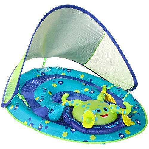 SwimWays Baby Spring Float Activity Center with Canopy –  Blue/Green Octopus
