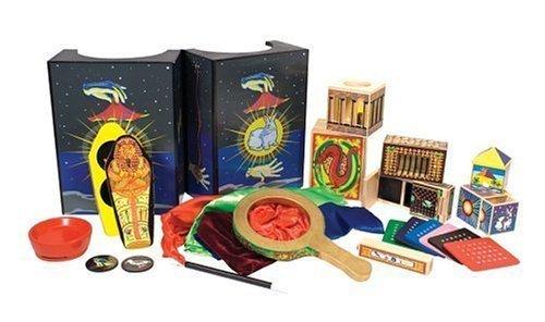 Melissa & Doug Deluxe Magic Set, Kids Magic Set, 10 Classic Tricks, Step-By-Step Instructions, 3.8″ H x 14.1″ W x 9.6″ L