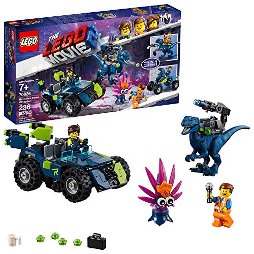 LEGO THE LEGO MOVIE 2 Rex's Rex-treme Offroader! 70826 Dinosaur Car Toy Set For Boys and Girls, Action Building Kit (230 Pieces)
