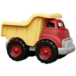 Green Toys Dump Truck in Yellow and Red – BPA Free, Phthalates Free Play Toys for Gross Motor, Fine Motor Skill Development. Pretend Play