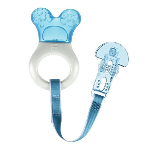 MAM Baby Toys, Teething Toys, Mini Cooler Teether with Clip, Boy, 2+ Months, 1-Count