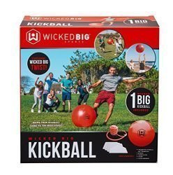 Wicked Big Sports Kickball-Supersized Kickball Outdoor Sport Tailgate Backyard Beach Game Fun for All