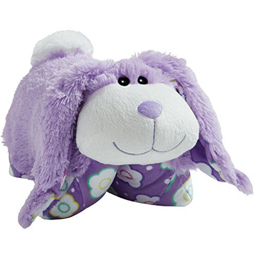 Pillow Pets Spring Lavender Bunny Stuffed Plush Toy for Sleep, Play, Travel, and Comfort – Great for Boys and Girls of All Ages – Soft and Washable