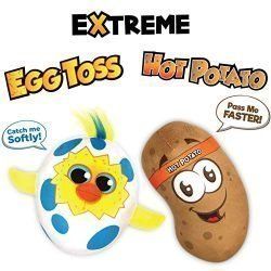 Move2Play Extreme Electronic Games Easter Party Pack – Includes Hot Potato and Egg Toss, Bundle Set