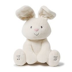 Gund Baby Flora The Bunny Animated Plush Stuffed Animal Toy, Cream, 12″