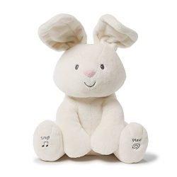 Gund Baby Flora The Bunny Animated Plush Stuffed Animal Toy, Cream, 12″