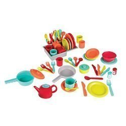 Battat – Deluxe Kitchen – Pretend Play Accessory Toy Set (71 Pieces Including Pots & Pans)