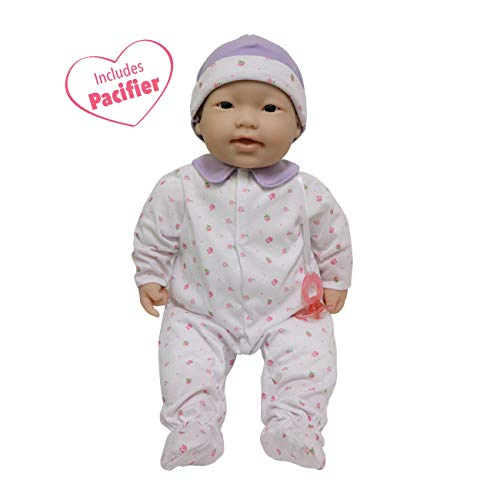 JC Toys, Asian La Baby 20-inch Soft Body Pink Play Doll – For Children 2 Years Or Older, Designed by Berenguer