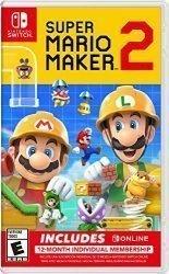 Super Mario Maker 2 + Nintendo Switch Online 12-Month Individual Membership – Nintendo Switch