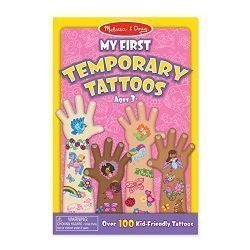 Melissa & Doug My First Temporary Tattoos: 100+ Kid-Friendly Tattoos – Rainbows, Fairies, Flowers, and More