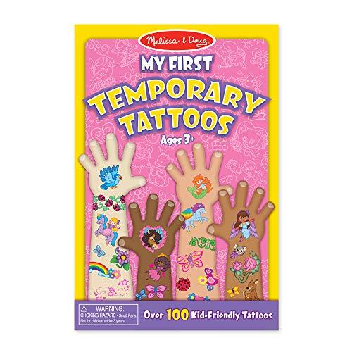 Melissa & Doug My First Temporary Tattoos: 100+ Kid-Friendly Tattoos – Rainbows, Fairies, Flowers, and More