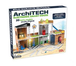 SmartLab Toys Archi-Tech Electronic Smart House – 62 Pieces – 20 Projects – Includes Light and Sound