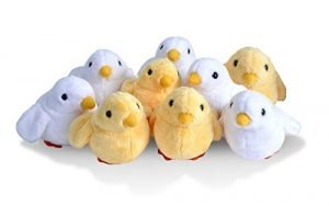 Wild Republic Chicks Plush, Stuffed Animals, Baby Easter Basket, Easter Eggs, Party Favors, 9-Pieces