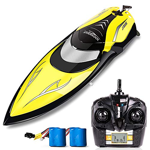 Remote Control Boats – SHARKOOL H106 Rc Self Righting Racing Boats for Boys & Girls, 2.4Ghz High Speed Remote Control Boat Toys for Kids Or Adults. (Black)