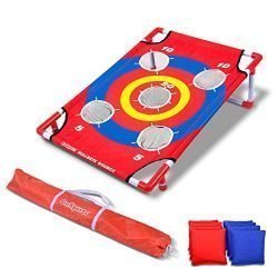 GoSports Bullseye Bounce Cornhole Toss Game – Great for All Ages & Includes Fun Rules