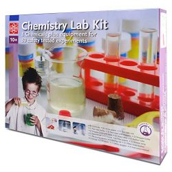 Elenco Edu-Toys Chemistry Lab | Introduction to Chemistry Principles | Includes Everything You Need | Beakers, Test Tubes, Thermometer and More | Plus Safety Goggles