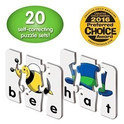 The Learning Journey: Match It! – 3 Letter Words – 20 Self-Correcting Reading & Spelling Puzzles with Matching Images