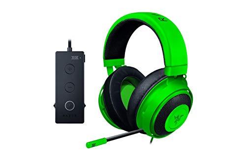 Razer Kraken Tournament Edition Gaming Headset – [Green]: Aluminum Frame – Retractable Noise Cancelling Mic – THX 7.1 Surround Sound USB DAC – for PC, Xbox, PS4, Nintendo Switch