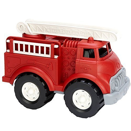 Green Toys Fire Truck – BPA Free, Phthalates Free Imaginative Play Toy for Improving Fine Motor, Gross Motor Skills. Toys for Kids