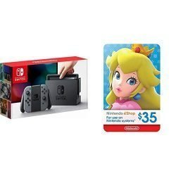 Nintendo Switch – Gray Joy-Con + $35 Nintendo eShop Gift Card [Digital Code]