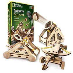 NATIONAL GEOGRAPHIC – Da Vinci's DIY Science & Engineering Construction Kit – Build Three Functioning Wooden Models: Catapult, Bombard & Ballista