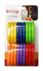 Nuby 18 Piece Linkables Baby Teething Toys