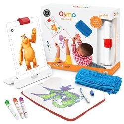 Osmo – Creative Kit for iPad – 5 Hands-On Learning Games – Ages 5-10 – Creative Drawing & Problem Solving/Early Physics – STEM – (Osmo iPad Base Included)
