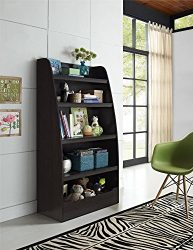Ameriwood Home Hazel Kids 4 Shelf Bookcase, Espresso