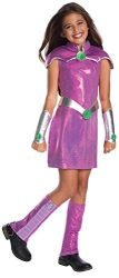 Rubie's Costume Girls DC Superhero Deluxe Starfire Costume, Medium, Multicolor