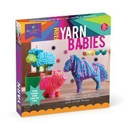 Craft-tastic – Farm Yarn Babies Kit – Craft Kit Makes 3 Yarn-Wrapped Animals – Foal, Lamb & Piglet