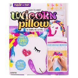 Made By Me Make Your Own Unicorn Pillow by Horizon Group USA, Unicorn Shaped DIY Decorative Pillow, No Sewing Needed