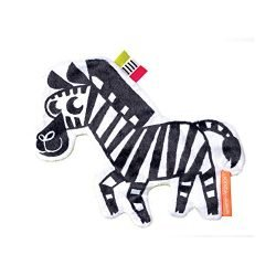 Manhattan Toy Wimmer-Ferguson Crinkle Zebra Baby Sensory Toy with Ribbon Tags