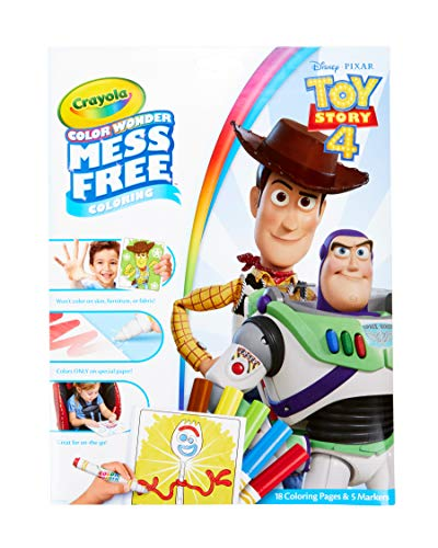 Crayola Color Wonder Toy Story 4 Coloring Book Pages & Markers, Mess Free Coloring, Gift for Kids